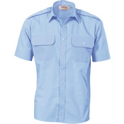 Epaulette Polyester/Cotton Work Shirt - Short Sleeve