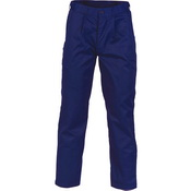 Polyester Cotton Pleat Front Work Pants