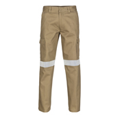Cotton Drill Cargo Pants With 3M R/Tape