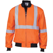 HiVis Cott on Bomb er Jacket with 'X' Back & additional 3m r/Tape below