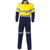 HiVis Two Tone Cott on Coverall with 3M R/Tape